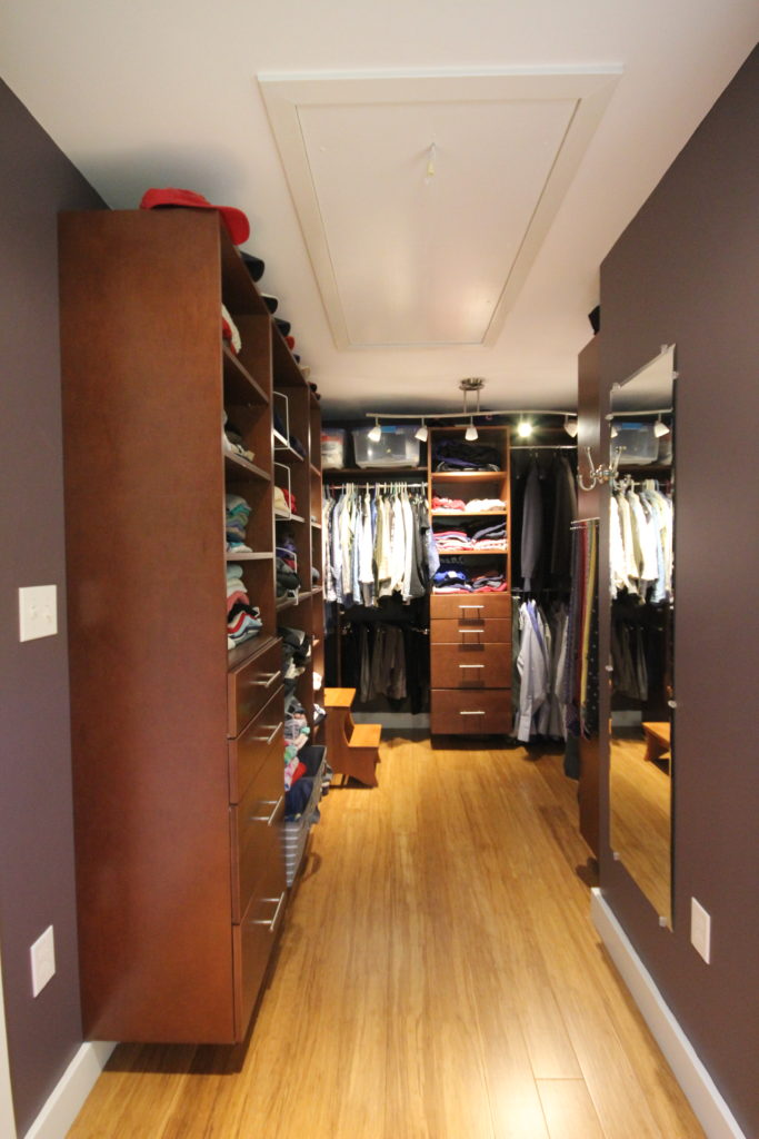 Master closet using Executive Cabinetry