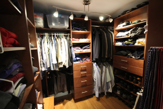 AFTER: A CLOSET ORGANIZED FOR HIM AND HER