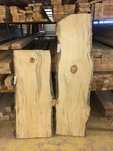Live wood slabs