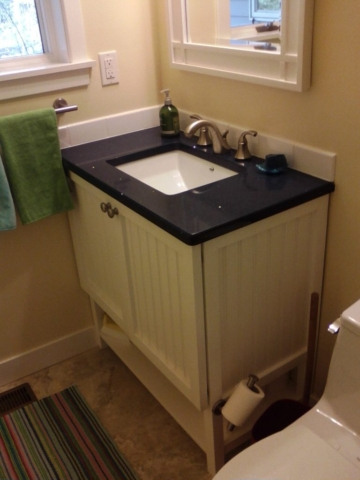 CUSTOM DESIGNED & BUILT VANITY WITH STORAGE