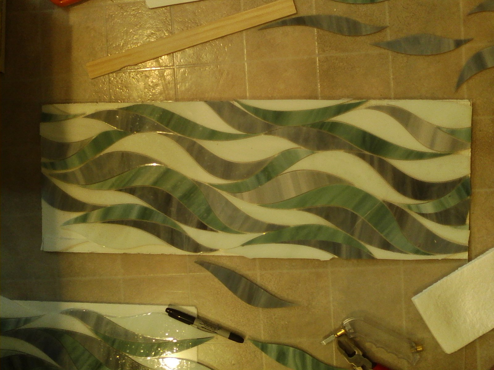 stain glass mural master shower