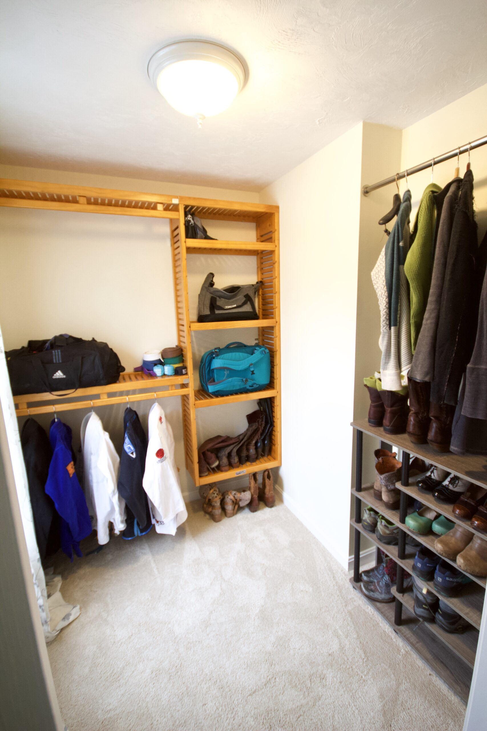 AFTER: WALK IN CLOSET