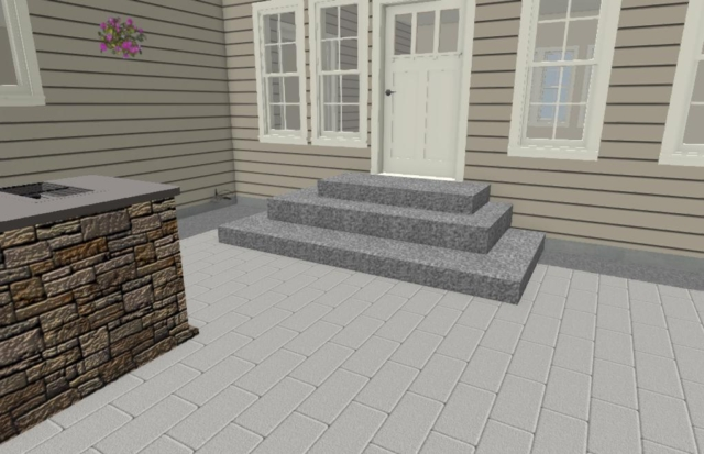 DESIGN STAGE OF PATIO STEPS