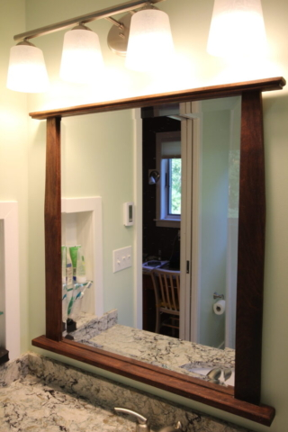 CUSTOM WALNUT MIRROR FRAME BY SCOTT A. WILLIAMS